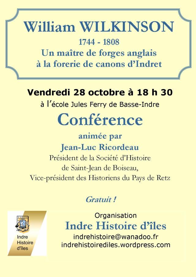 Conférence sur William Wilkinson - Vendredi 28 octobre 2011